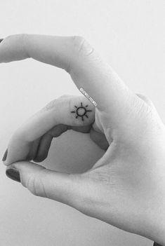 Now I've always got a little sunshine for those cloudy days ☀️ #suntattoo #fingertattoo #small #girl #cute #finger #sun #sunshine #tattoo https://plus.google.com/+TattooDesignShirts/