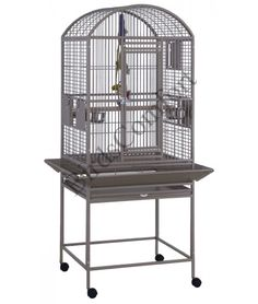 21816 Hq Small Dometop Bird Cage Includes 2 Feeder Doors