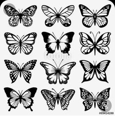 Tattoos Butterfly Vector Set - Buy this stock vector and explore similar vectors at Adob. Butterfly Vector Set - Buy this stock vector and explore similar vectors at Adobe Stock Simple Butterfly Tattoo, Butterfly Outline, Butterfly Stencil, Butterfly Tattoo Meaning, Butterfly Drawing, Butterfly Template, Butterfly Tattoo Designs, Butterfly Design, Butterfly Watercolor