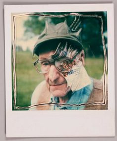 "William S. Burroughs by Ralph Steadman. Believe R.St. called these Polaroids, manipulated by hand during the drying process, ""paranoids."""