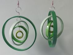 Quilled Paper Earrings from Yesterday's news - today's accessories