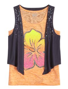 Icon Tank With Vest   Tanks   Tops & Tanks   Shop Justice