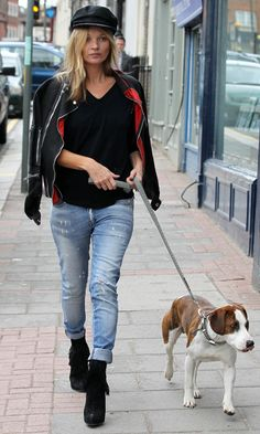 KATE MOSS with Archie, London 2013
