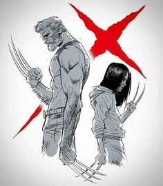 Logan and Laura Wolverine and All New Wolverine, Wolverine Art, Logan Wolverine, Wolverine Poster, Marvel Art, Marvel Dc Comics, Marvel Heroes, Comic Manga, Anime Comics