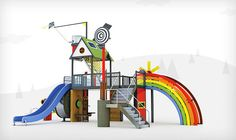 Here are six designs for playgrounds that harness kinetic energy generated from kids playing on them.