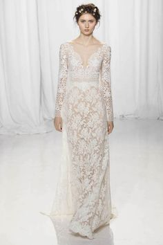 Long Lace Sleeve Wedding Dress from Reem Acra
