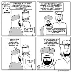 Sound familiar when you ask any muslim about this?  - http://holesinthefoam.us/waffle-and-dodge-source-source-and-comments/