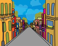 #BlankCanvas #atthemoxy  This is my design for Moxy Hotel New Orleans, I made this landscape to show the architecture of the city, the energy on the colors and the music, all of them typical signs of the beautiful city. All those details in a contemporary way. Hope you like it.