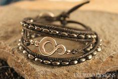 Silver Infinity Hematite Bead Wrap Bracelet ❤ by DeOrdioDesigns