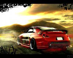 Фото розмальованої машини Nissan 350Z