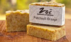 Patchouli Orange Bar Soap | Zoe Natural Creations {www.zoenaturalcreations.com} #Natural #organic #skincare #zoenaturalcreations #soap #body #beauty #health #ingredients