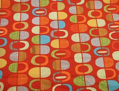 Mod-Century half pods fabric - three variations - FREE SHIPPING for the first yard