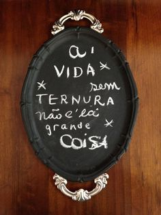Tinta Lousa além das paredes   DIY de uma bandeja  - Follow the Colours