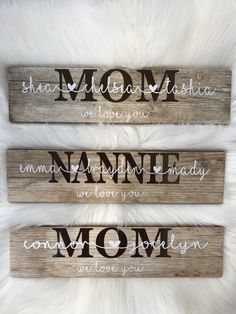 Mothers Day Signs, Grandmas Mothers Day Gifts, Mothers Day Crafts, Mother Day Gifts, Gifts For Mom, Mothers Day Ideas, Vinyl Gifts, Wood Gifts, Family Wall