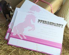 Pferdegeburtstag Einladungskarte