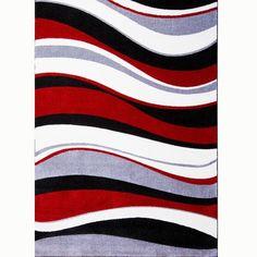Unique Red Black Grey Rugs