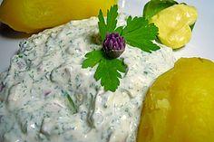 Kräuterquark zu Kartoffeln oder zu Gemüse als Dip