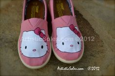 Hello Kitty Custom TOMS Shoes - YOUTH on Etsy, $105.00
