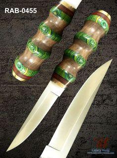 "RaB Cutlery Custom Made Puukko Knife 4.3"" x 1/4"" Thick D2 Tool Steel Blade  #RaB"