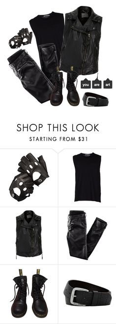 """""""Black is always a good idea"""" by jovanax97 ❤ liked on Polyvore featuring Aspinal of London, T By Alexander Wang, MuuBaa, H&M, Dr. Martens, HUGO, men's fashion, menswear and shadowhunters"""