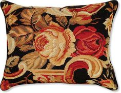 Italian Floral I Needlepoint Pillow - Floral Pillows at NeedlepointPillows.com