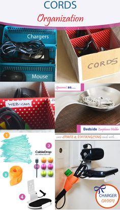 Take care of your cord clutter with these simple tips on cords and cable organization (Organizing cords) (Cord Management) (Organize cables) (Reduce Cord Clutter) (Cable and cord Organizer) (organize wires) (charger organization) Charger Organization, Organizing Wires, Cord Management, Cable Organizer, Take Care Of Yourself, Cords, Clutter, Simple, Tips