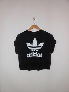 classic back adidas swag style crop top by 0BubblegumBoutique0