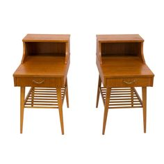 A Pair of Scandinavian Modern Night Tables   From a unique collection of antique and modern end tables at http://www.1stdibs.com/furniture/tables/end-tables/