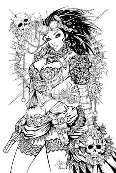 Lady Mechanika Inks by Fendiin.deviantart.com on @deviantART