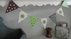 Mini Wooden Bunting www.justsentiments.co.uk