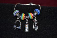 summer theme European style charm bracelet by Adorato on Etsy, $16.95   https://www.etsy.com/listing/152429807/summer-theme-european-style-charm