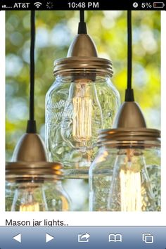 Elegant Mason Jar Outdoor Light Fixture