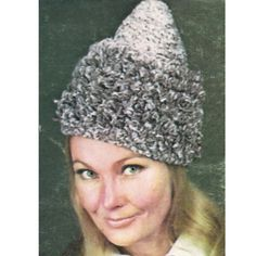 Crochet Conical Hat Pattern.   This is a perfect cone head hat for all of your cone -- ing needs.   This pattern is available, in PDF format, at Vintage Knit Crochet Pattern Shop
