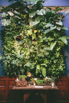 Botanical Garden Inspired California Wedding - fabulous wedding guestbook table!  Photo: onelove photography