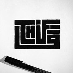 50 Inspiring Examples of Hand-lettering - Thug Life hand-lettering thick sans-serif Typographic Design, Graphic Design Typography, Lettering Design, Logo Design, Graffiti Lettering, Typography Letters, Font Art, Typography Logo, Grafik Design