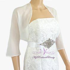 Hey, I found this really awesome Etsy listing at https://www.etsy.com/listing/234008469/bridal-ivory-chiffon-jacket-sale-wedding