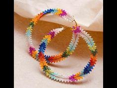 Beaded Earrings Patterns, Peyote Patterns, Beading Patterns, Seed Bead Jewelry, Seed Bead Earrings, Beaded Jewelry, Bead Embroidery Tutorial, Beaded Embroidery, Brick Stitch Earrings