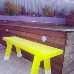 Project: Backyard 'birdie' bench