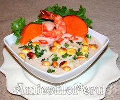 LECHE DE TIGRE AmiestiloPeru2014 Peruvian Dishes, Peruvian Recipes, Ceviche, Cantaloupe, Seafood, Curry, Menu, Fruit, Cooking
