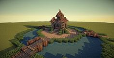 Small Spawn/ Hub | Medieval, Fantasy, General Use Minecraft Project