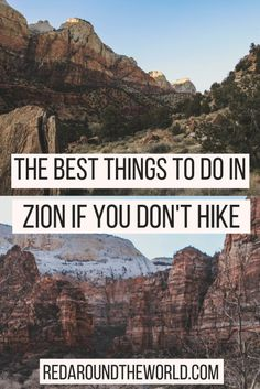The Best Things To Do In Zion National Park That Aren't Hiking - - Zion National Park is the most popular national park in Utah. It has some of the best hikes in Utah but this will tell you what to do in Zion that isnt hiking. Capitol Reef National Park, National Parks Usa, Zion National Park, Zion Park, Zion Utah, Utah Adventures, Outdoor Adventures, Utah Hikes, Hiking In Utah