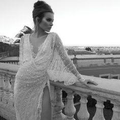 Exotic sexy beaded wedding dress