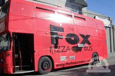 Fox Pizza Bus - a double decker bus turned mobile wood fired restaurant