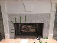 How to Add Herringbone Marble Tile to a Fireplace - Southern Hospitality Southern Belle Secrets, Southern Girls, Southern Living, Tile Around Fireplace, Fireplace Surrounds, Fireplace Ideas, Country Girl Quotes, Country Girls, Southern Quotes