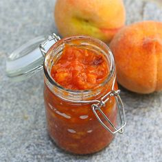 Peach BBQ Sauce - I always make my dad BBQ sauce for every holiday. I think this will be a nice twist.