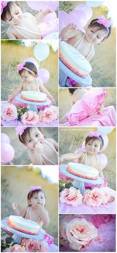 Cake Smash! Happy 1st Birthday Baby Girl! :: Quianna Marie Photography