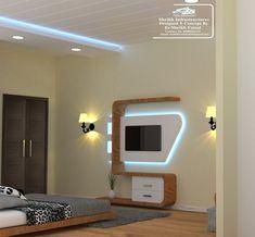 Modern Bedroom interior Design work by Sheikh infrastructures Bedroom Tv Unit Design, Lcd Unit Design, Lcd Wall Design, Tv Unit Furniture Design, Tv Unit Interior Design, Wall Unit Designs, Bedroom False Ceiling Design, Tv Cabinet Design Modern, Lcd Units
