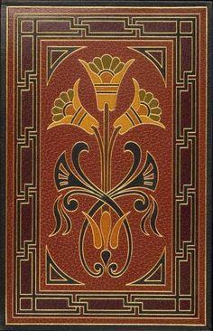 Image Title: Back doublure. Creator: Marius Michel, M., 1846-1925 — Binder Additional Name(s) : Flaubert, Gustave, 1821-1880 — Author