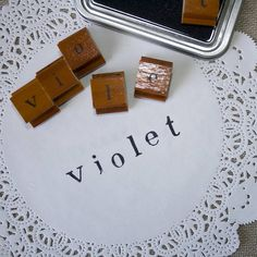 Lowercase Alphabet Rubber Stamp Set from notonthehighstreet.com