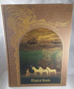 The Enchanted World Magical Beasts 1985 Time Life Book Series Unicorns Minotaurs Satyrs Anubis Dragons Manticore Basilisk Mythology Creature by PickyVintagePicks on Etsy